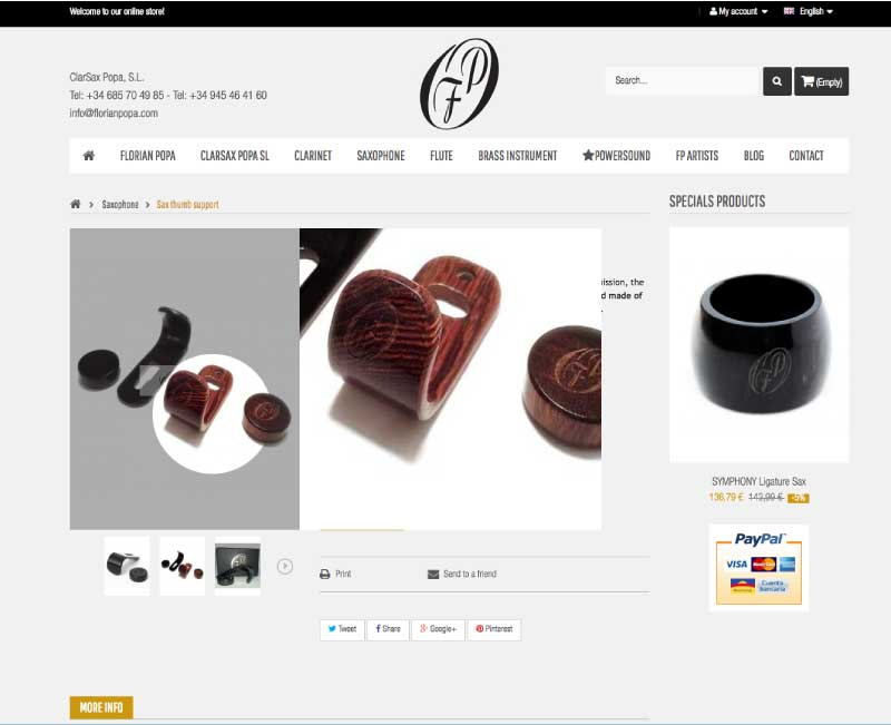 Diseño de tienda online | Detalle de producto con zoom