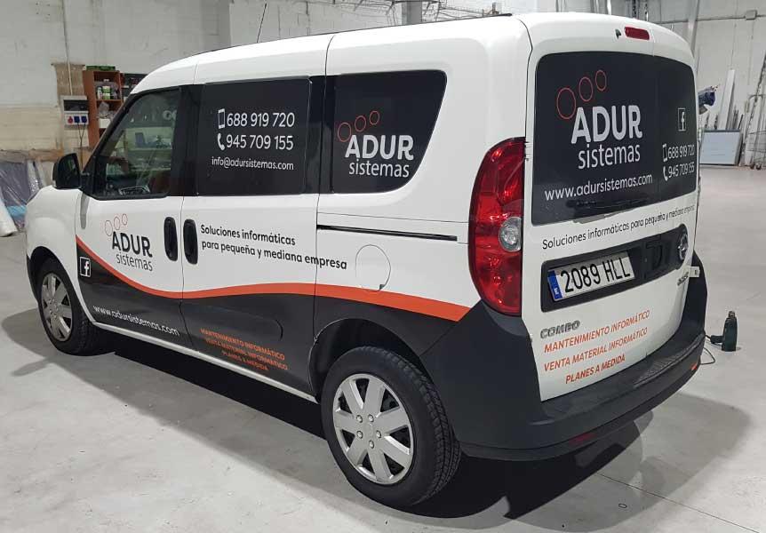 Rotulación de vehículos Adur Sistemas