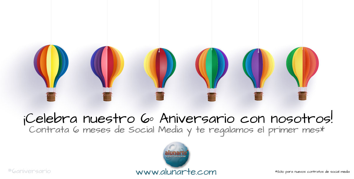 Blog de Marketing | Promoción de redes sociales 6º aniversario