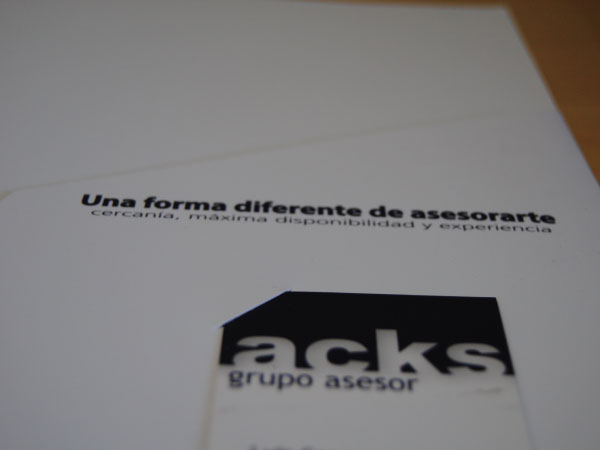 Diseño de carpeta corporativa para ACKS | Carpeta externa