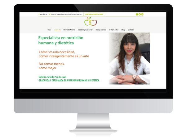 Diseño web para nutricionista | Nutrición Vitoria