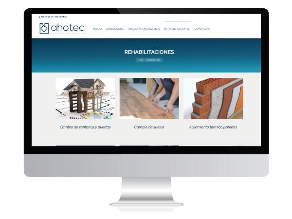 Diseño web para consultoría energética | AHOTEC | Vitoria-Gasteiz