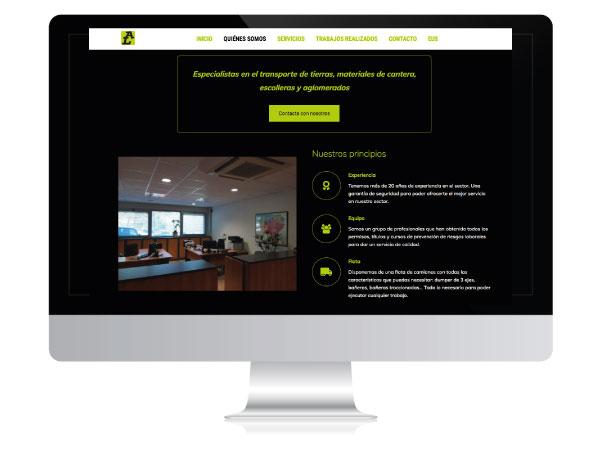 Diseño página web corporativa Arelur   ALUNARTE diseño y comunicación   Vitoria-Gasteiz