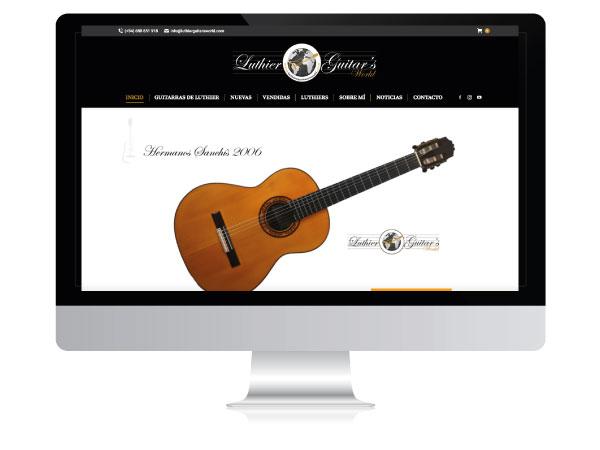 Diseño tienda online guitarras | Luthier Guitars World | Alunarte diseño y comunicación