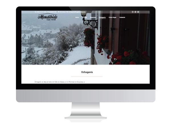 Diseño web para Casa Rural Mendibide   ALUNARTE diseño y comunicación